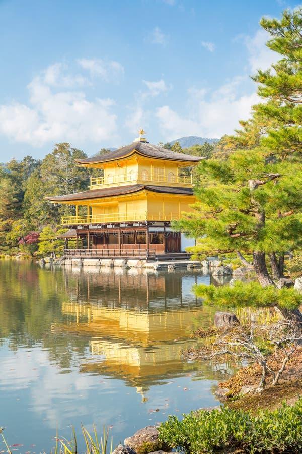 Kinkakuji tempel i Kyoto royaltyfri bild