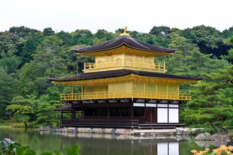 Download Kinkakuji Temple stock image. Image of cloud, building - 19282791