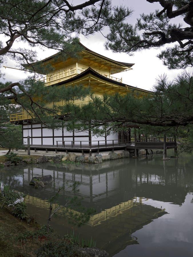 Kinkakuji Temple Golden Pavilion Kyoto stock images
