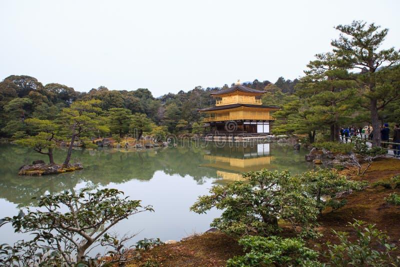Kinkakuji Temple. (The Golden Pavilion) in Kyoto, Japan stock image