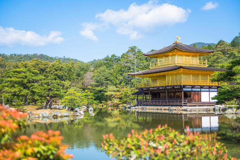 Kinkakuji Temple  The Golden Pavilion  In Kyoto Royalty Free Stock Images
