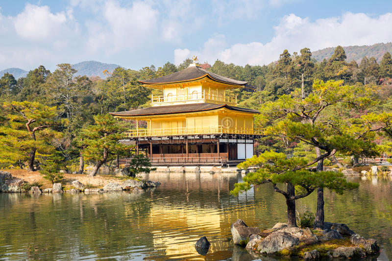Download Kinkakuji Temple in Kyoto stock image. Image of autumn - 36109755