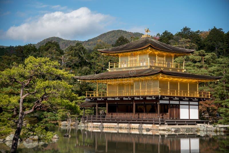 Kinkakuji Temple in Kyoto, Japan. Kinkakuji Temple (The Golden Pavilion) and beautiful garden reflected on water, one of famous landmarks in Kyoto, Japan stock photo