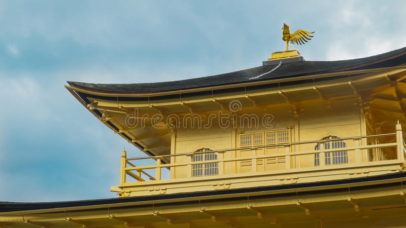 Kinkakujitempel (het Gouden Paviljoen) in Kyoto, Japan Phoerix royalty-vrije stock afbeeldingen