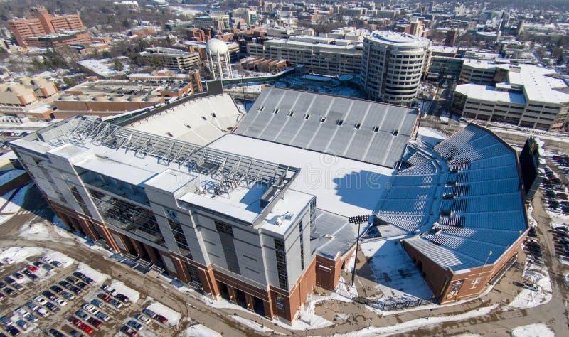 Kinnick stadium in Iowa City royalty free stock photos