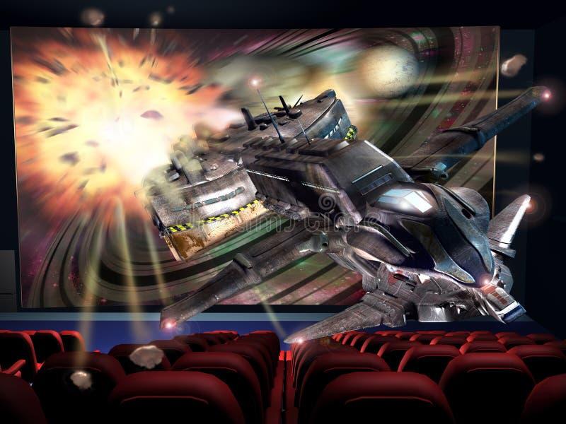 Kino 3D lizenzfreie abbildung