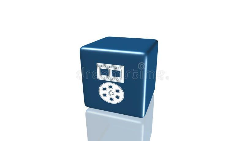 Kino Ekranowa ikona, znak, 3D ilustracja, najlepszy ikona ilustracji