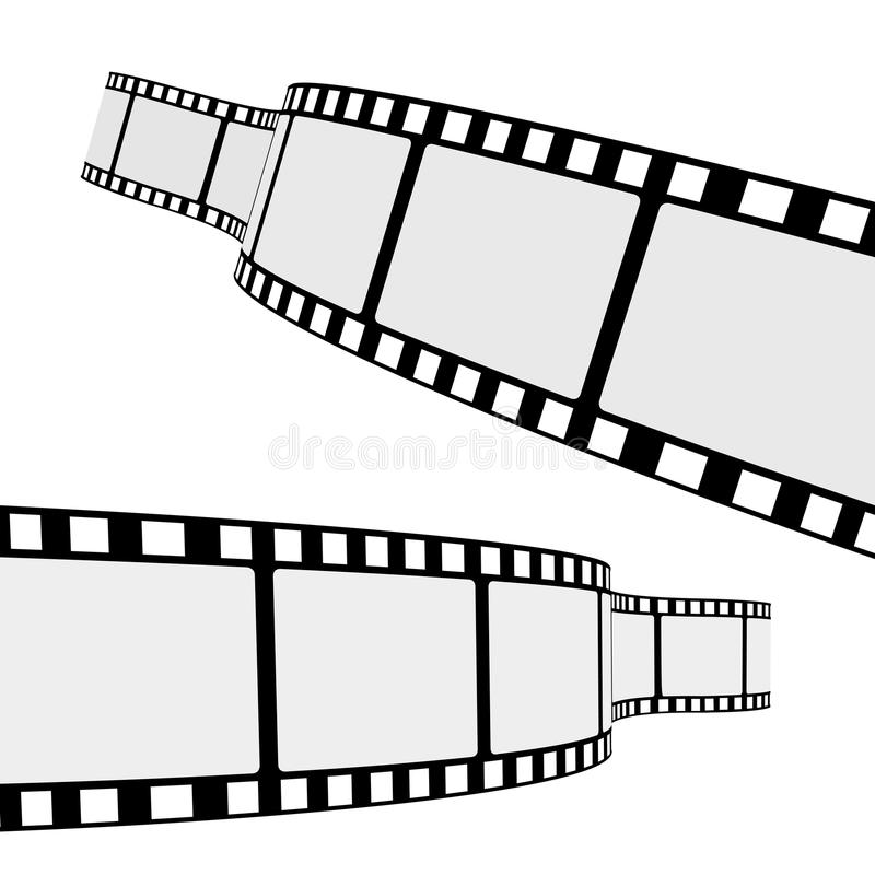 Kino-Film-Streifen stock abbildung