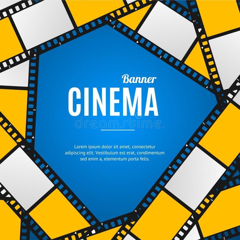 Kino-Film-Streifen oder Spulen-Hintergrund Vektor lizenzfreie abbildung
