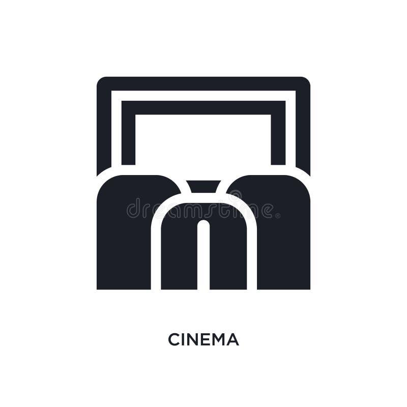 Kino lokalisierte Ikone einfache Elementillustration von den Museumskonzeptikonen Logozeichen-Symbolentwurf des Kinos editable au lizenzfreie abbildung