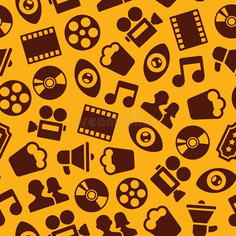 Kino-nahtloses Muster lizenzfreie abbildung