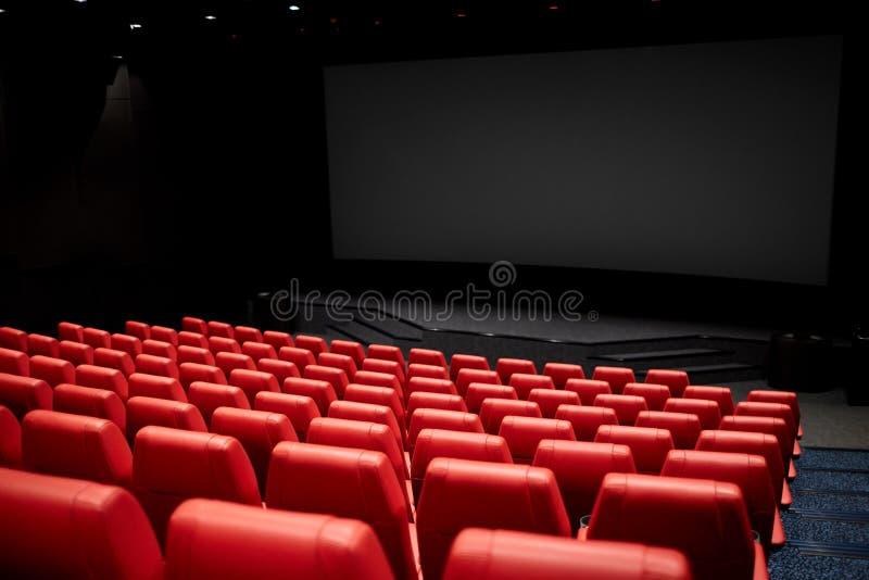 Kino oder leeres Auditorium des Kinos stockfotografie