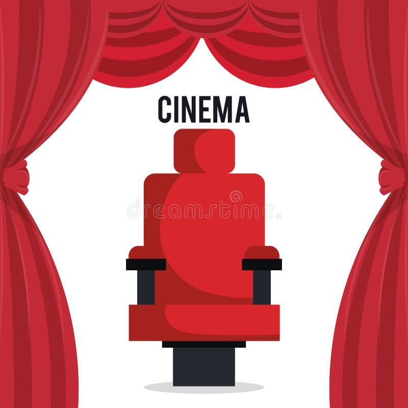 Kino przewodniczy rozrywki ikonę ilustracja wektor