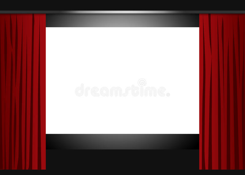 Kino pusty ekran royalty ilustracja