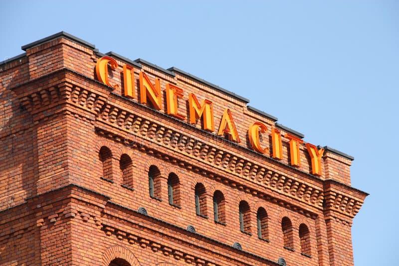 Kino-Stadt lizenzfreie stockbilder