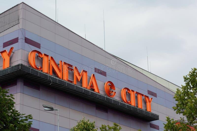 Kino-Stadtlogo stockbilder
