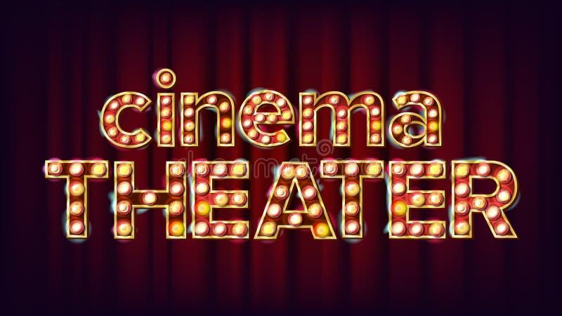Kino-Theater-Fahnen-Vektor r r Moderne Abbildung vektor abbildung