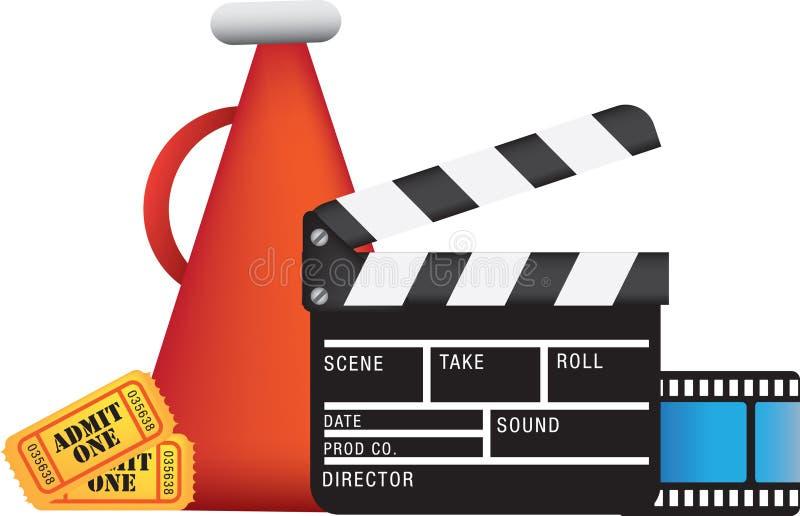 Kino und Filme lizenzfreie abbildung