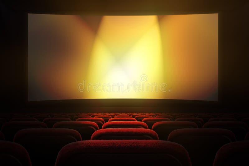 Kino z projekcyjnym ekranem obrazy royalty free