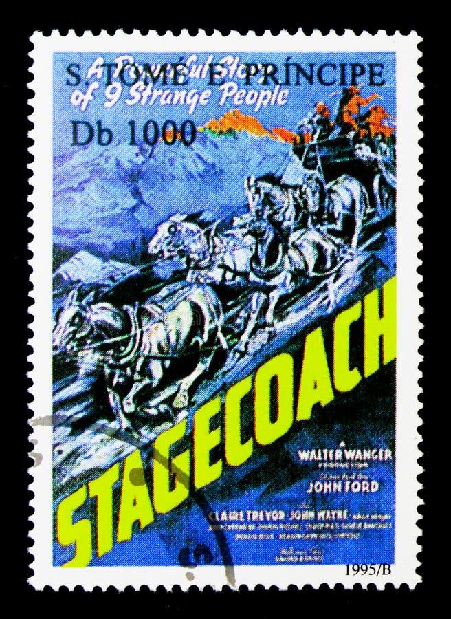 Kinofilme, Stagecoach, Film-Poster serie, circa 1995 lizenzfreie stockfotos