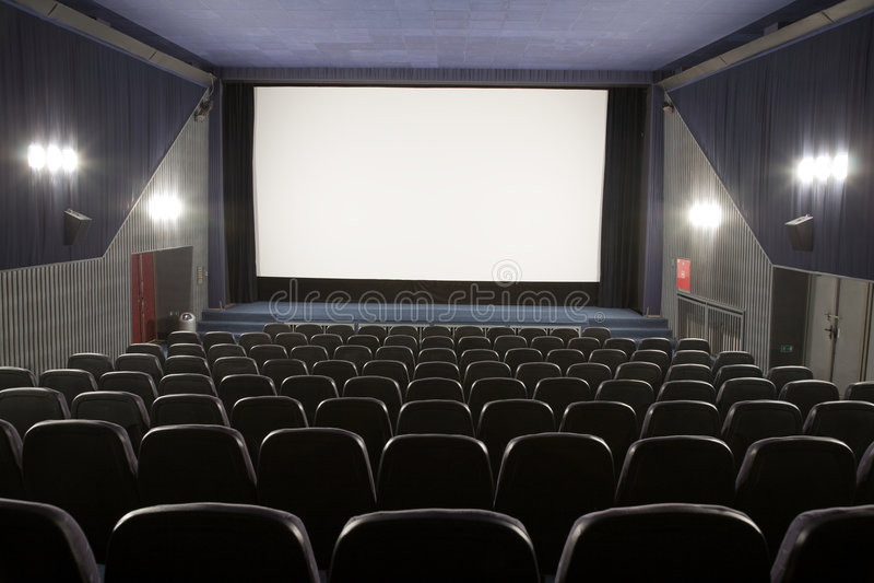 Kinoinnenraum stockfotografie