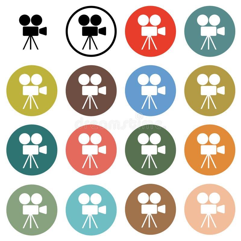 Kinokameraikonen stock abbildung