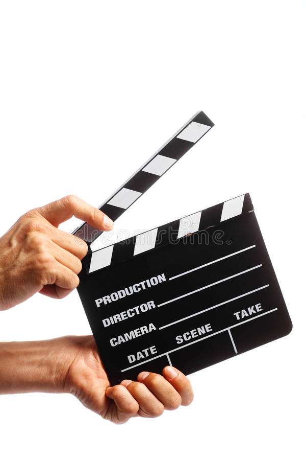 Kinoklatschen stockfotos