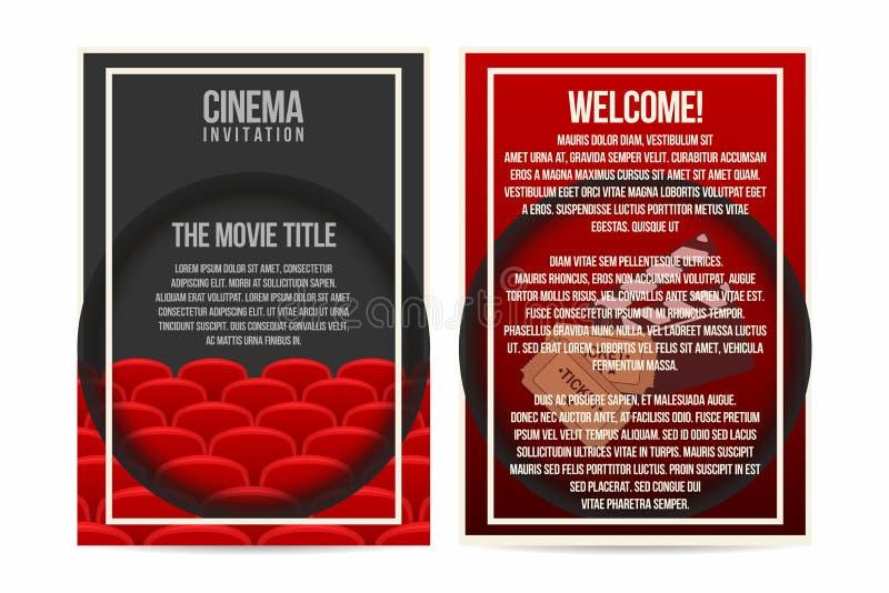 Kinoplakat, Einladung, Fliegerschablone Größe A4 Kinositzreihen ...