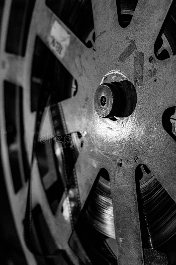 Kinoprojektorabschluß oben lizenzfreies stockfoto