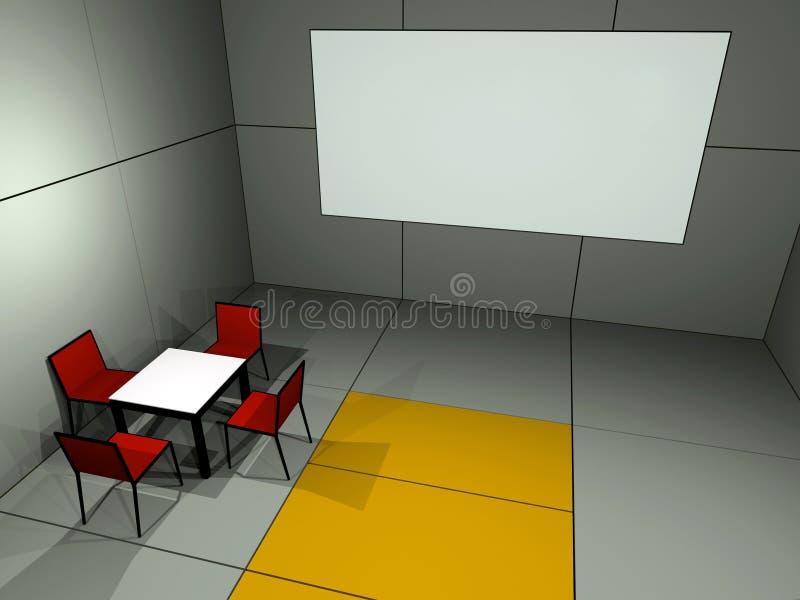Kinoraum lizenzfreie abbildung