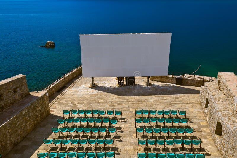 Kinosaal in Herceg Novi Citadel - Montenegro stockbild