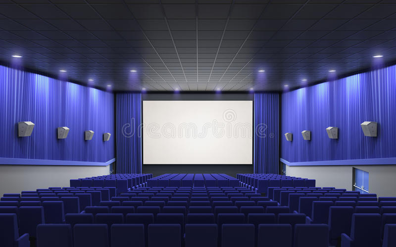 Kinostadiumsblau stock abbildung