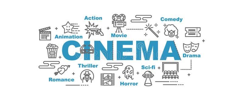 Kinovektorfahne lizenzfreie abbildung
