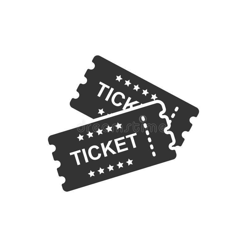 Kinowa biletowa ikona w mieszkanie stylu Przyznaje jeden talonowego wejściowego vect royalty ilustracja