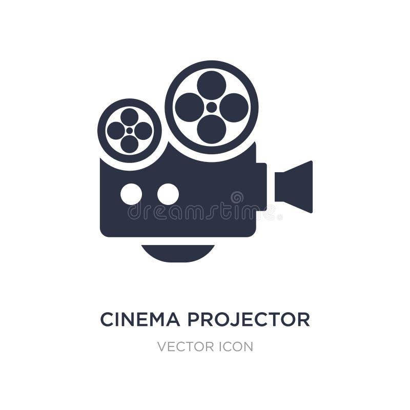 kinowa projektor ikona na białym tle Prosta element ilustracja od technologii pojęcia ilustracji