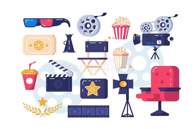 Kinowi symbole ustawiający ilustracji