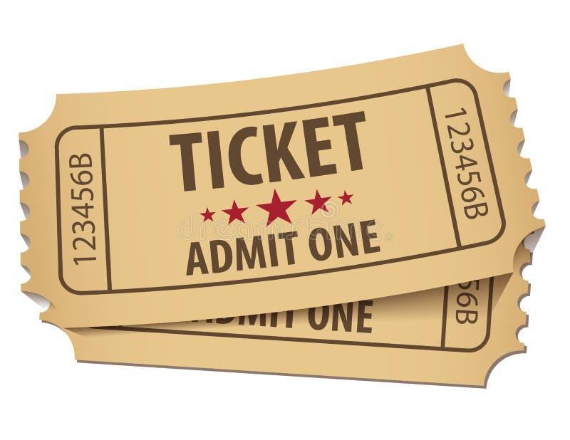 Kinowy bilet royalty ilustracja
