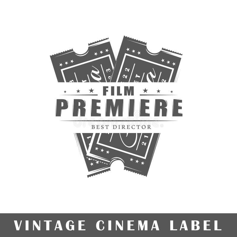 Kinowy etykietka szablon ilustracja wektor