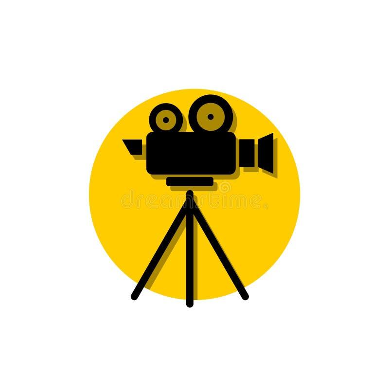 Kinowy film kamery bocznego widoku szablon ilustracji