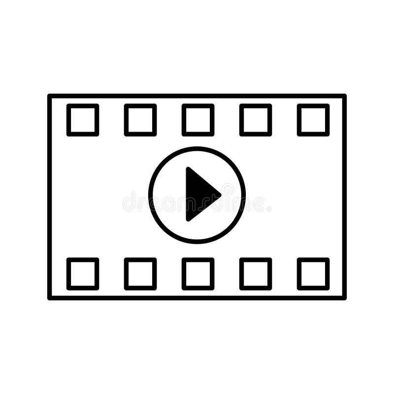 Kinowy filmu kontur ilustracji