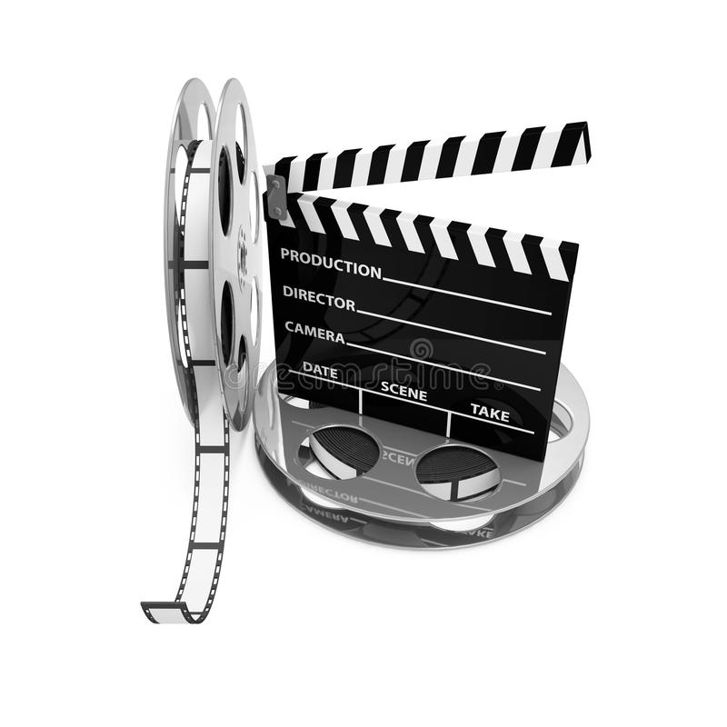 Kinowy Klaśnięcie i Ekranowe Rolki royalty ilustracja