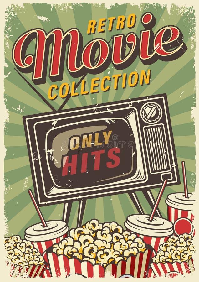 Kinowy rocznika plakat ilustracja wektor
