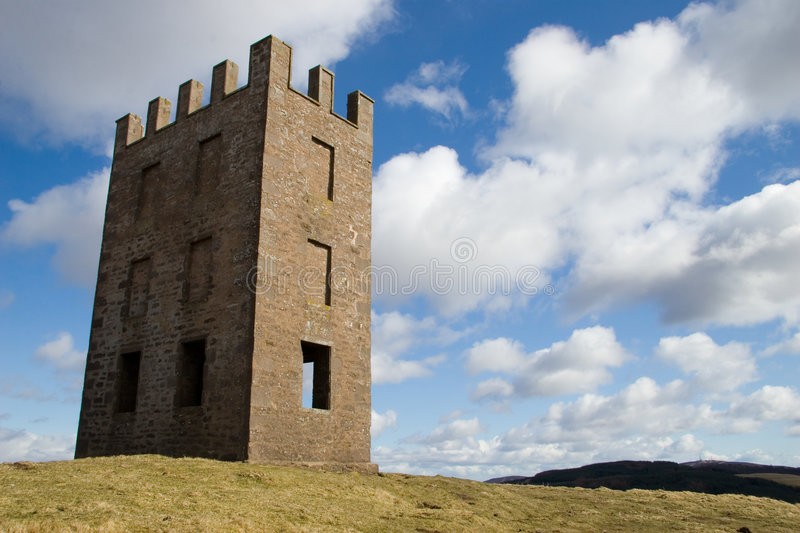 Kinpurnie Tower, Scotland stock images