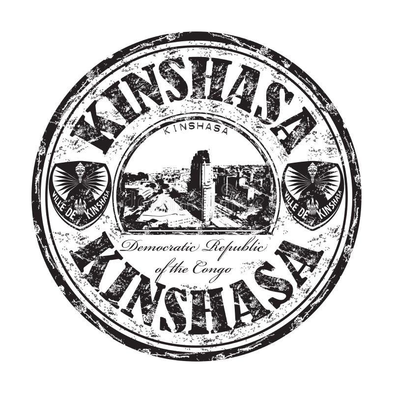 Kinshasa grunge pieczątka