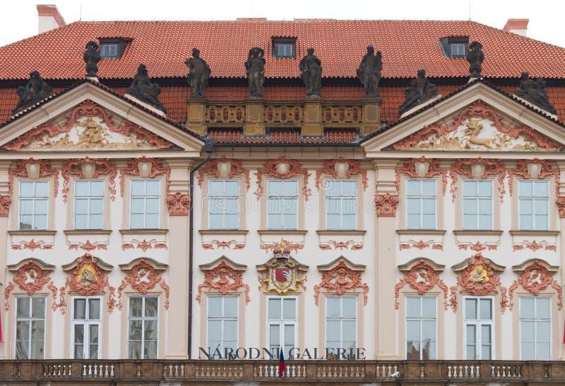 kinsky slott royaltyfri bild
