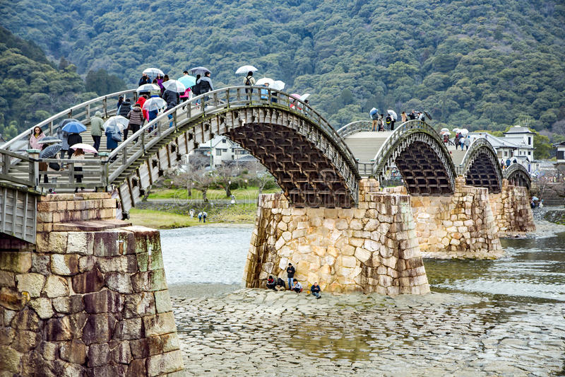 Kintai Bridge in Iwakuni stock photo