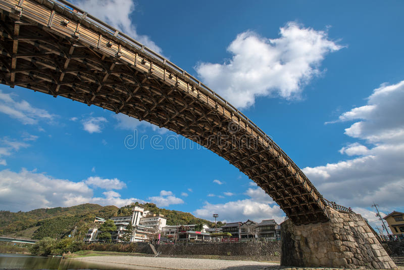 Kintai bro i Iwakuni, Hiroshima, Jpapan royaltyfri fotografi