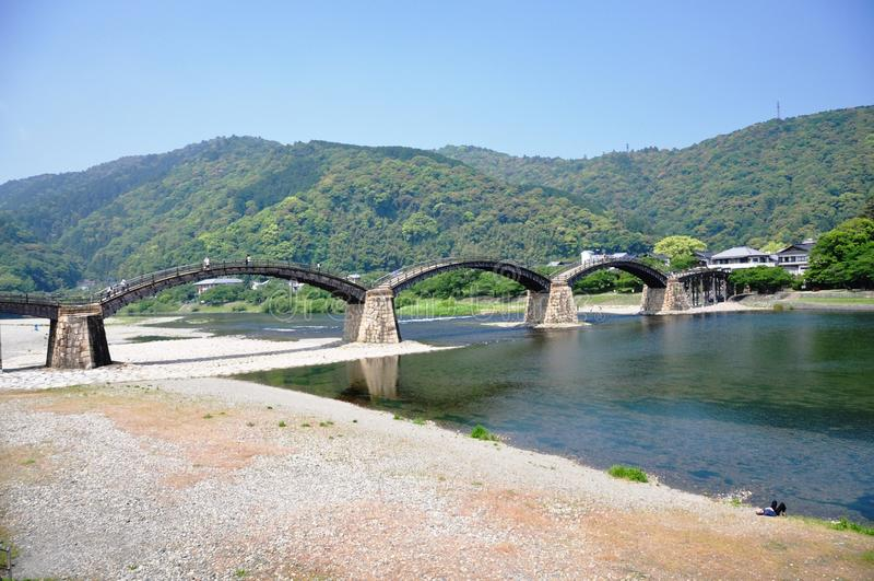 Kintai bro Japan arkivbild