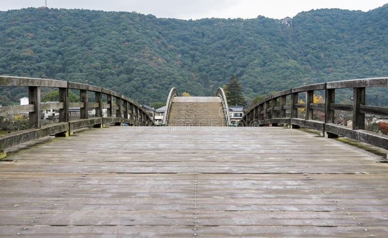 Kintai-kyo bro i Iwakuni, Japan royaltyfria bilder