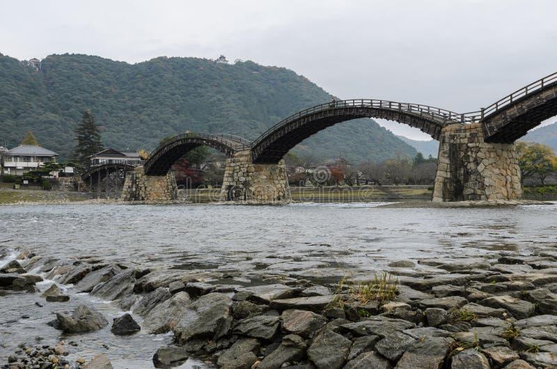 Kintai-kyo bro i Iwakuni, Japan fotografering för bildbyråer